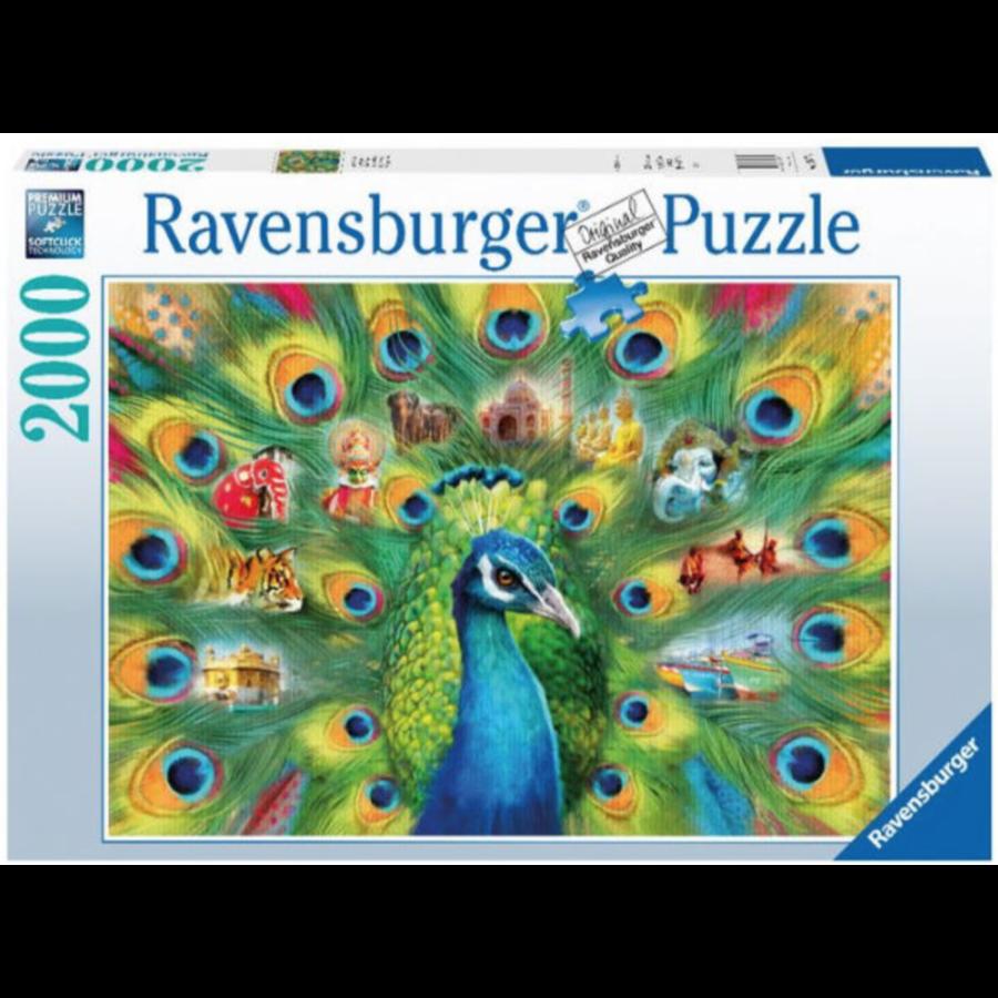 Land van de pauw - puzzel van 2000 stukjes-2