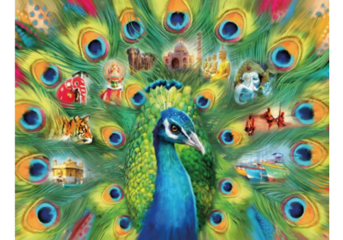 Ravensburger Land of the Peacock  - 2000 pieces