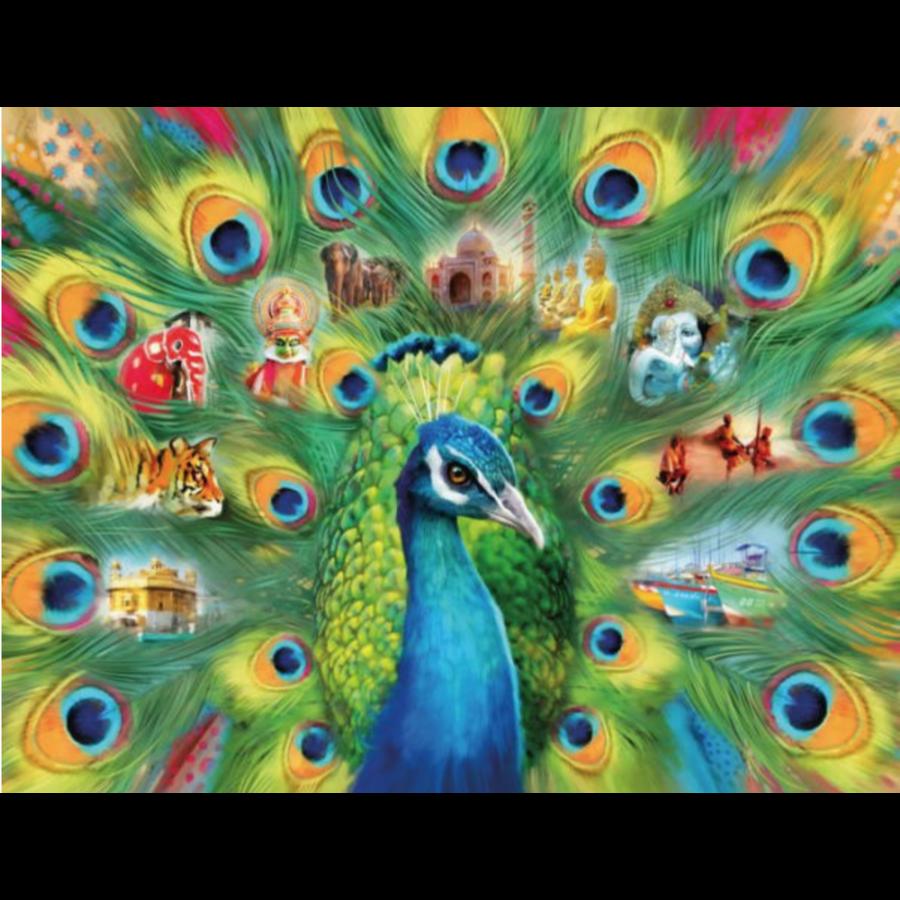 Land van de pauw - puzzel van 2000 stukjes-1