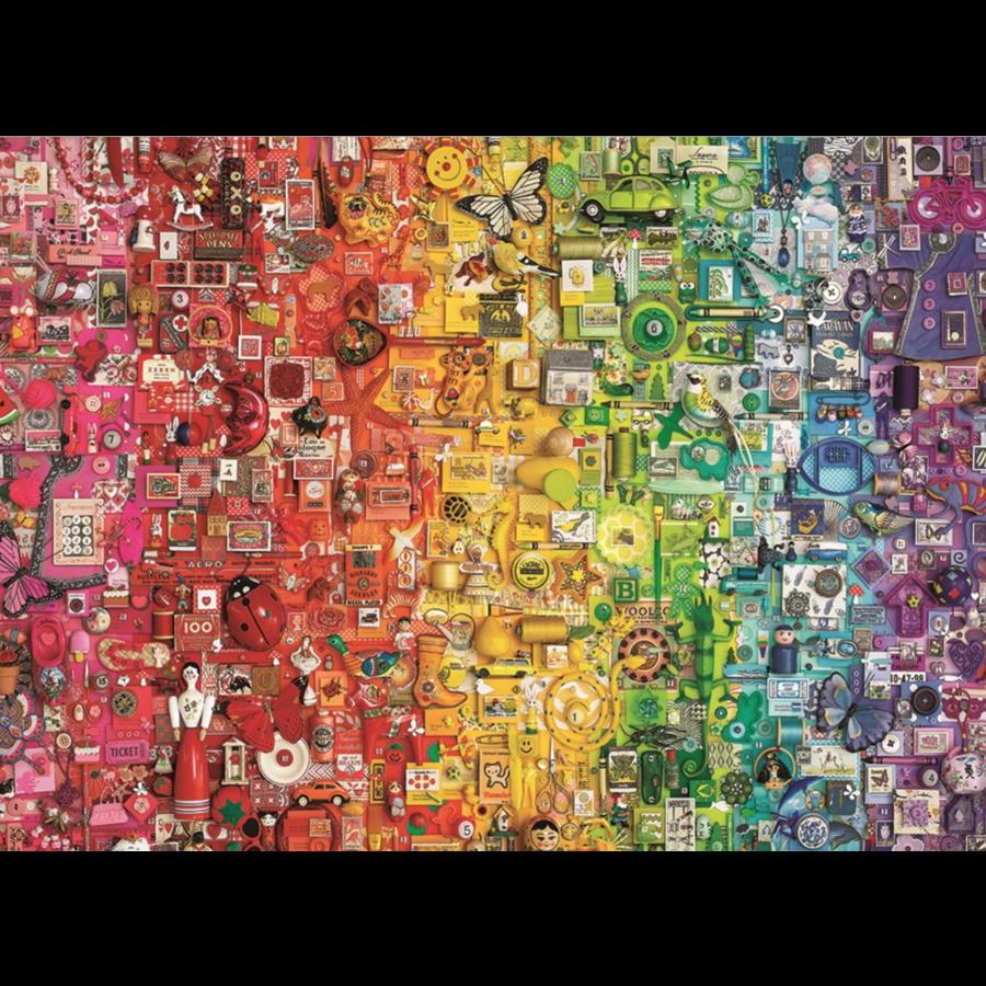 Regenboog- puzzel van  1000 stukjes-1