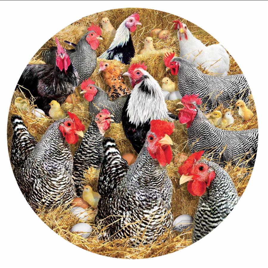 Kippen en kuikens - legpuzzel van 1000 stukjes-1