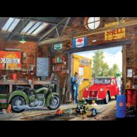 In daddy's garage -  jigsaw puzzle of 300 XXL pieces