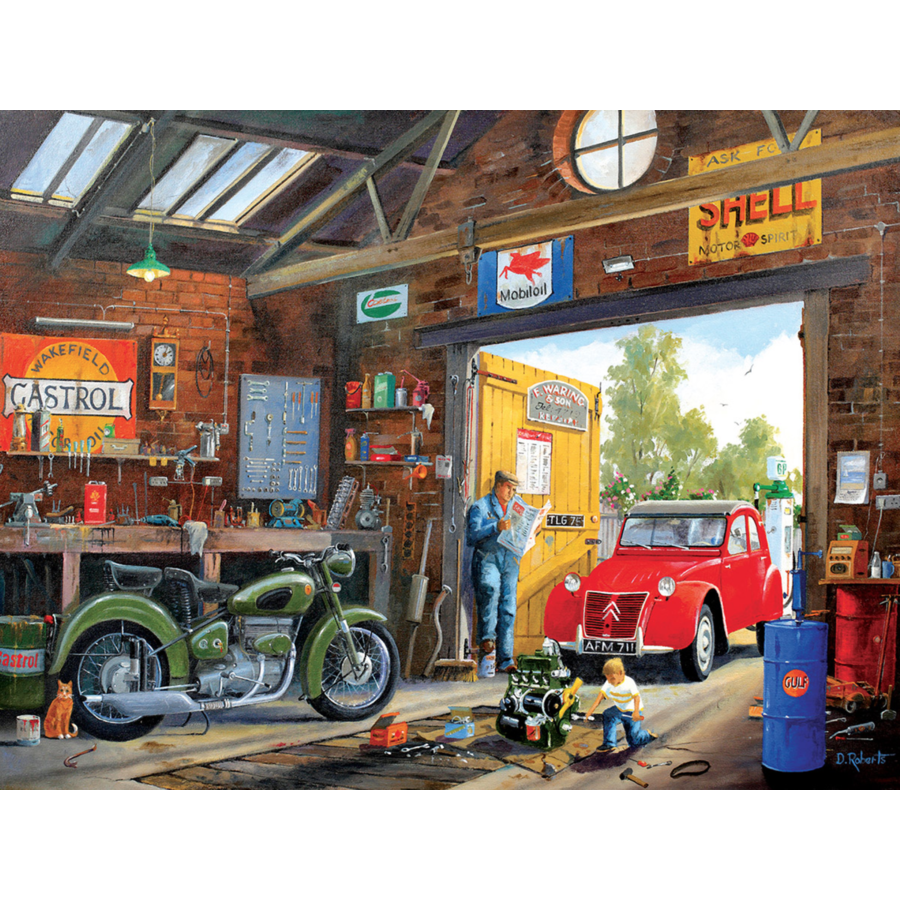 In daddy's garage -  jigsaw puzzle of 300 XXL pieces-1