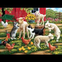 Des agneaux en liberté  - puzzle de 300 XXL pièces