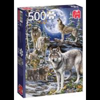 thumb-Wolven in de winter   - puzzel van 500 stukjes-1