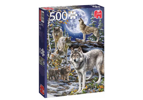 Jumbo Wolven in de winter  - 500 stukjes