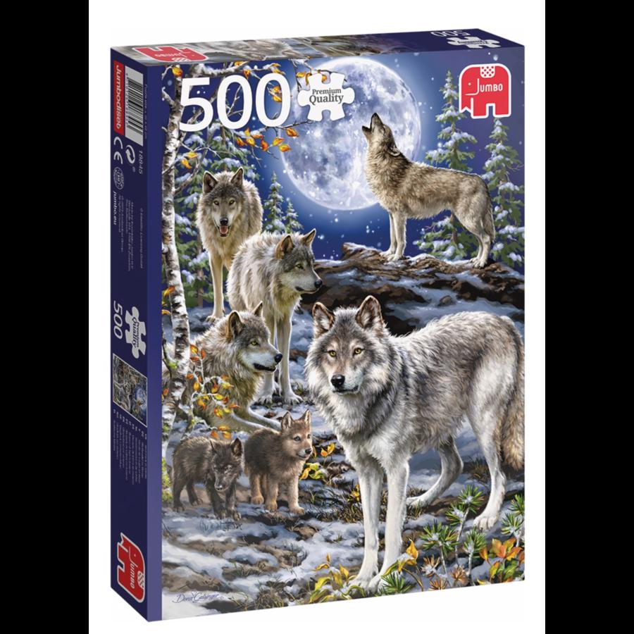 Wolven in de winter   - puzzel van 500 stukjes-1