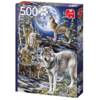 thumb-Wolven in de winter   - puzzel van 500 stukjes-2