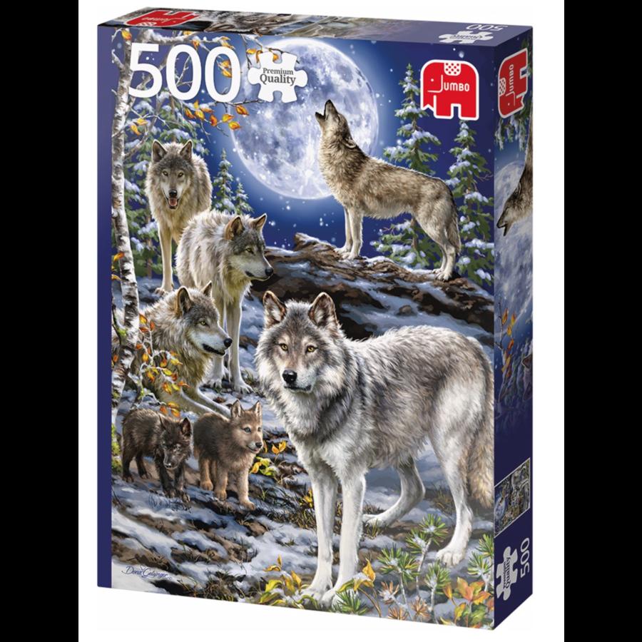 Wolven in de winter   - puzzel van 500 stukjes-2