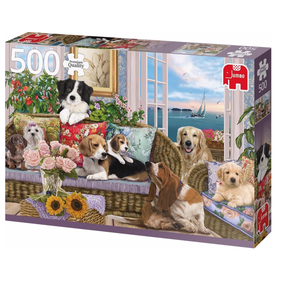 Viervoeter vriendjes   - puzzel van 500 stukjes-2