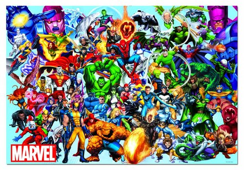 All the superheroes of Marvel - 1000 pieces