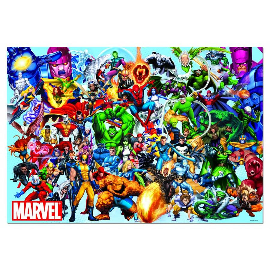 Alle superhelden van Marvel - puzzel van 1000 stukjes-1
