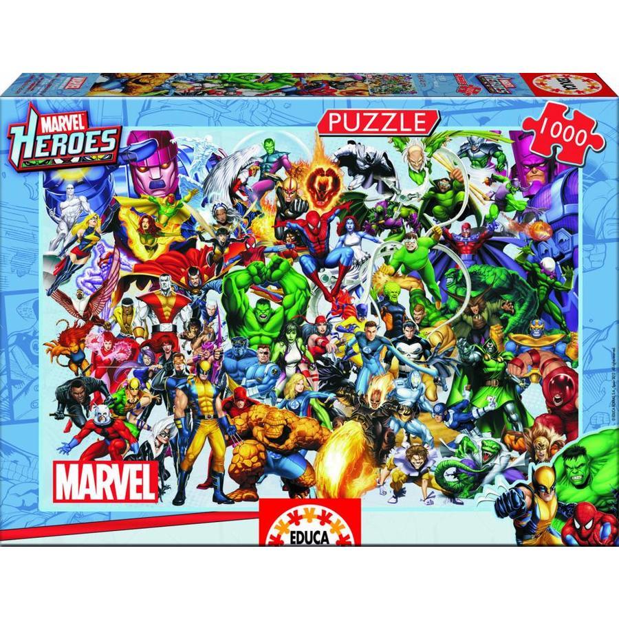 Alle superhelden van Marvel - puzzel van 1000 stukjes-2