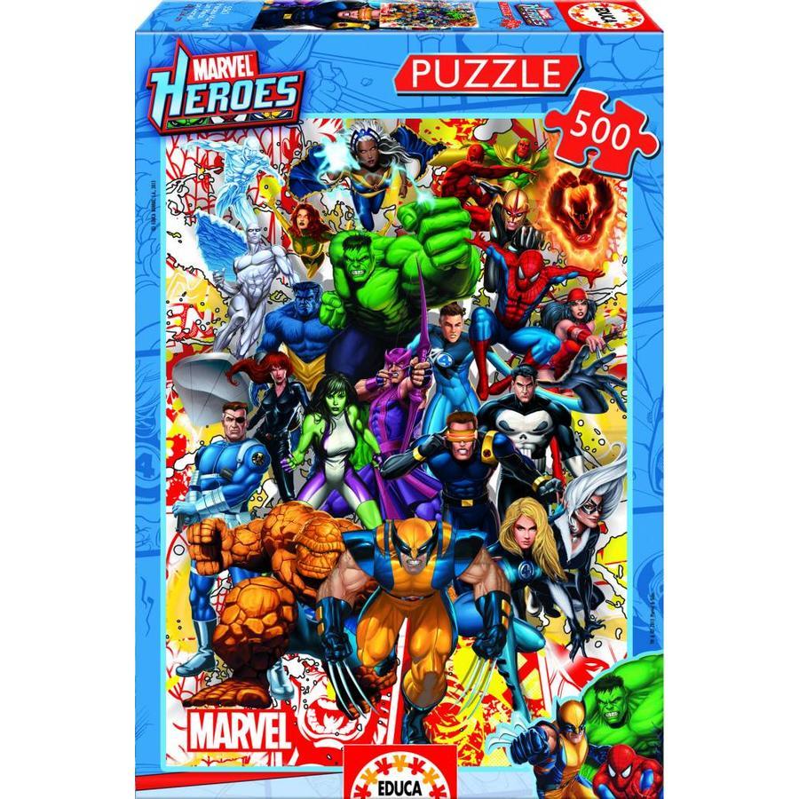 De superhelden van Marvel - puzzel van 500 stukjes-2