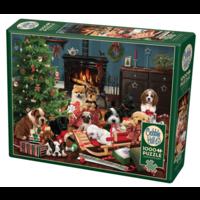 thumb-Christmas puppies - puzzel van 1000 stukjes-2