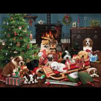 thumb-Christmas puppies - puzzel van 1000 stukjes-1