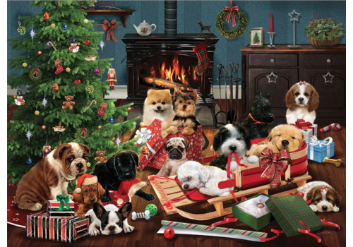 Cobble Hill Christmas puppies - 1000 pieces