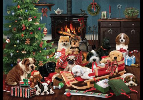 Cobble Hill Christmas puppies - 1000 stukjes