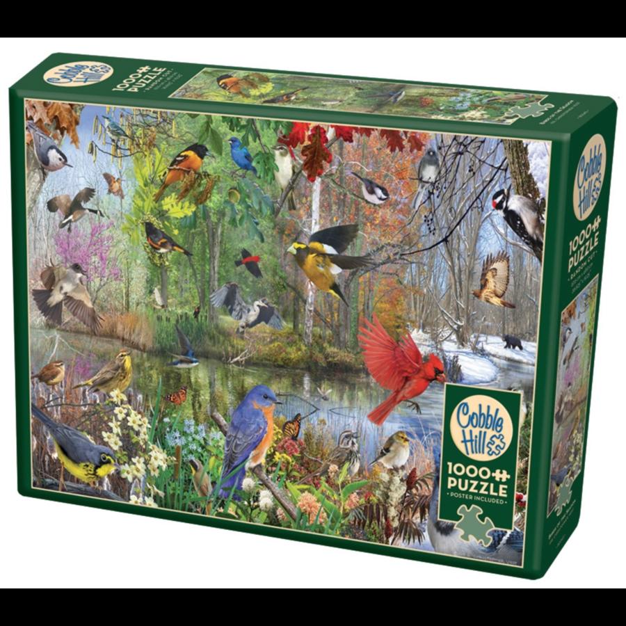 Vogels van het seizoen - puzzel van 1000 stukjes-2