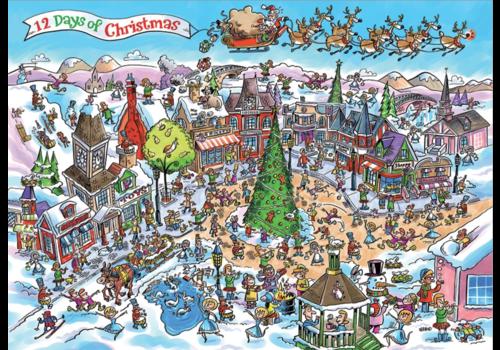 Cobble Hill 12 days of Christmas - 1000 stukjes