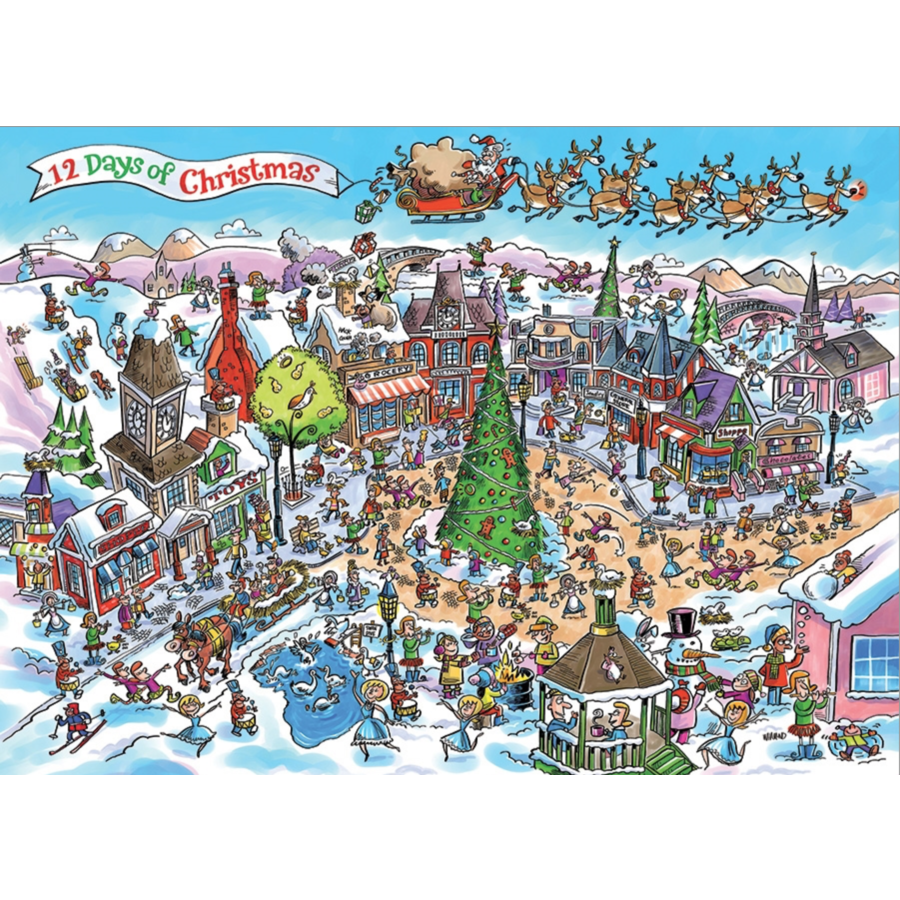 12 days of Christmas - puzzel van 1000 stukjes-1