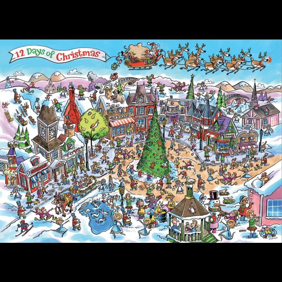 12 days of Christmas - puzzle de 1000 pièces-1