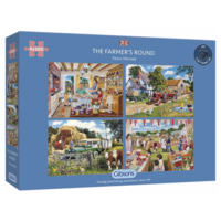 thumb-Een dagje op de boerderij - 4 puzzels van 500 stuks-1
