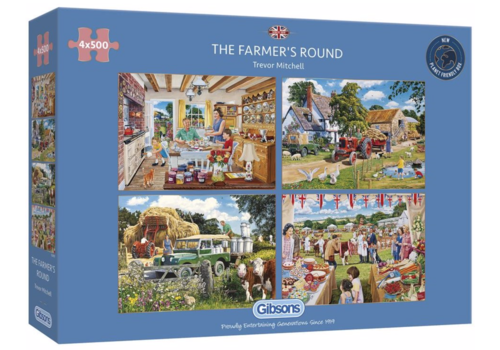 Gibsons The Farmer's Round - 4 puzzles of 500 pieces