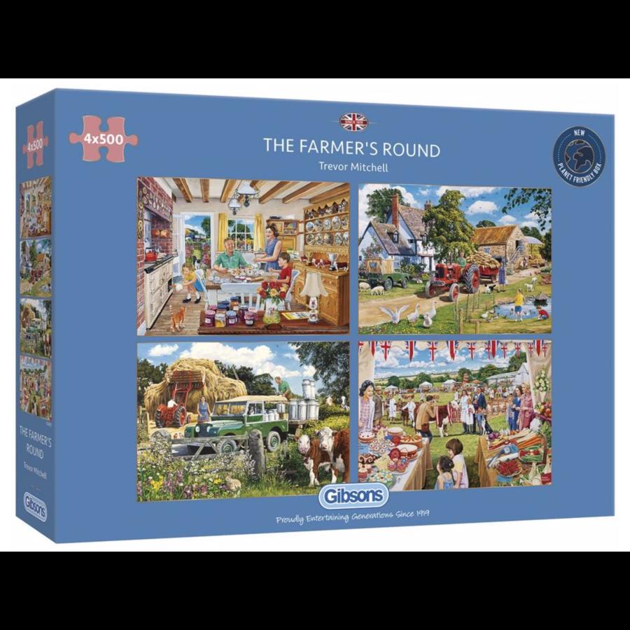 Een dagje op de boerderij - 4 puzzels van 500 stuks-1