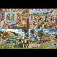 thumb-Een dagje op de boerderij - 4 puzzels van 500 stuks-4