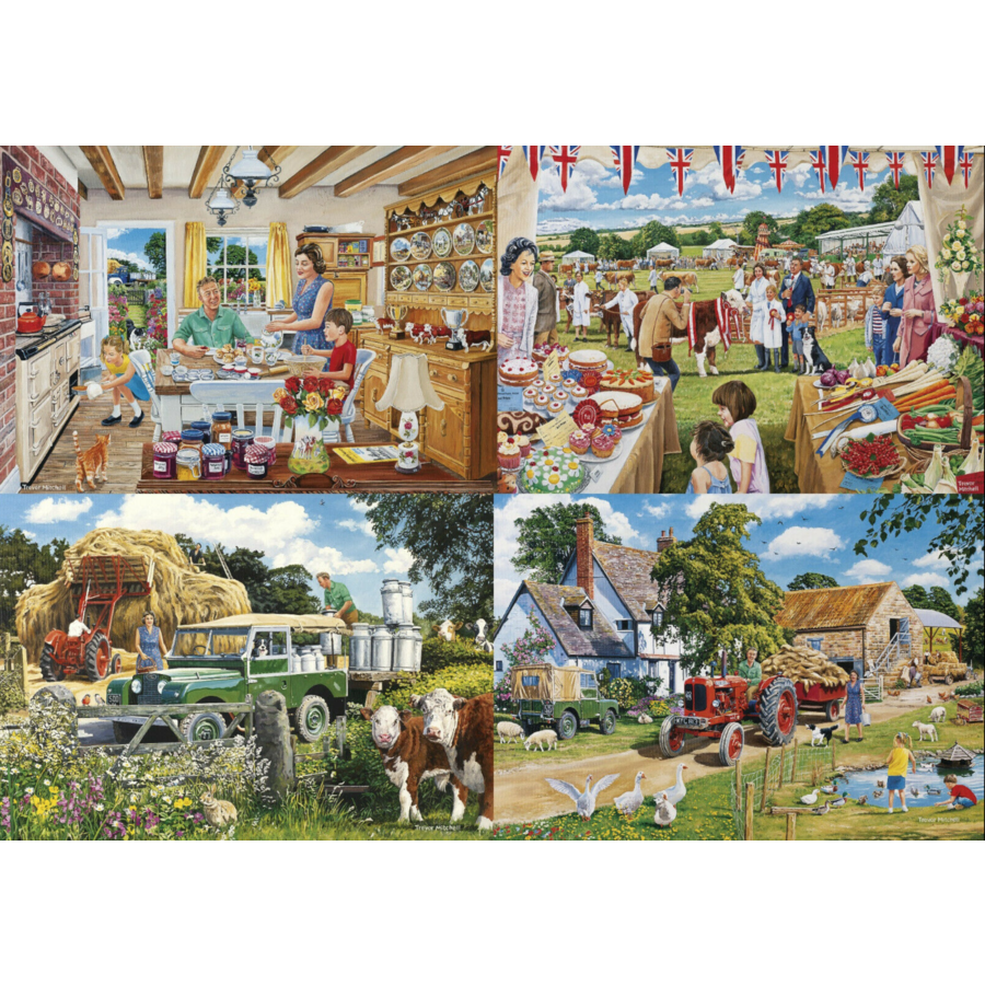 Een dagje op de boerderij - 4 puzzels van 500 stuks-4