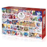 thumb-Christmas Alphabet - jigsaw puzzle of 1000 pieces-1