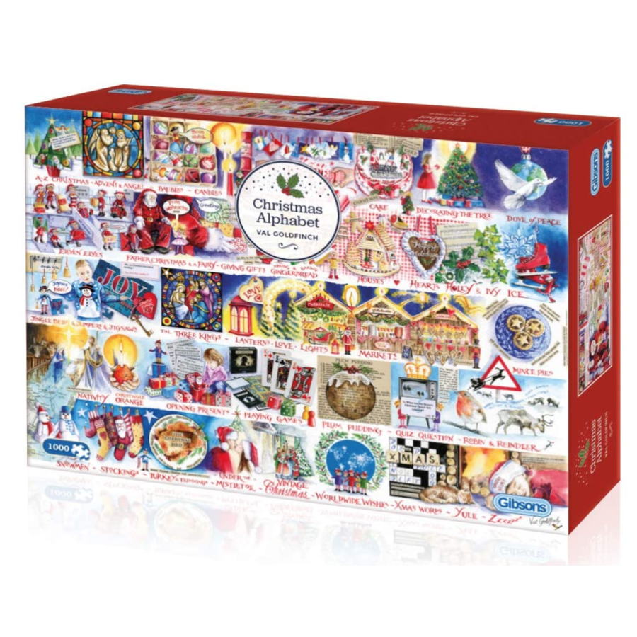 Christmas Alphabet - jigsaw puzzle of 1000 pieces-1