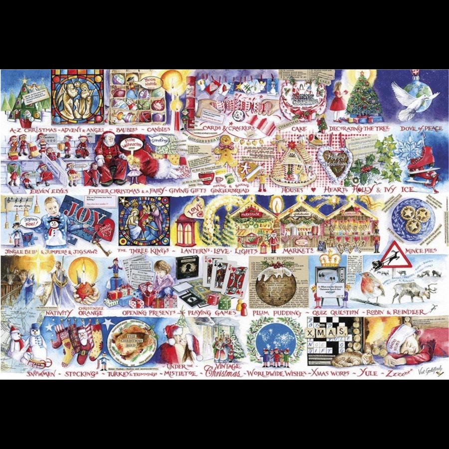 Christmas Alphabet - jigsaw puzzle of 1000 pieces-2