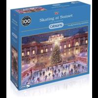 thumb-Skating at Sunset - puzzel van 1000 stukjes-2