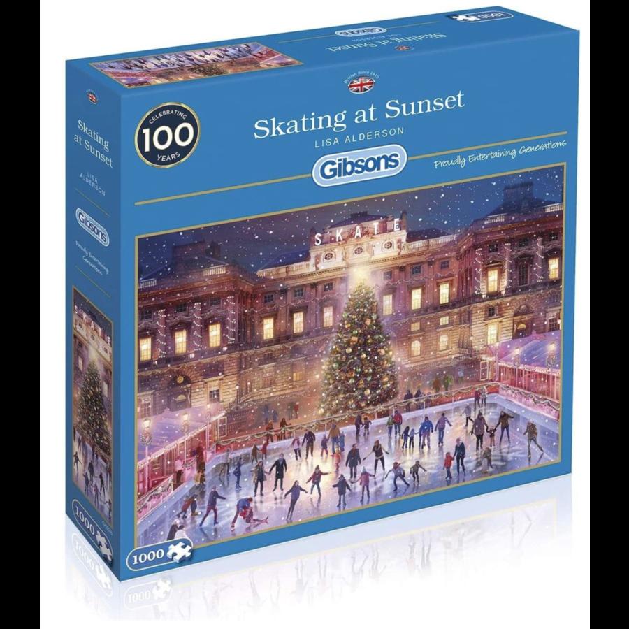 Skating at Sunset - puzzel van 1000 stukjes-2