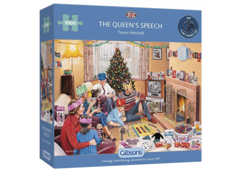 Gibsons The Queen's Speech - 1000 pieces