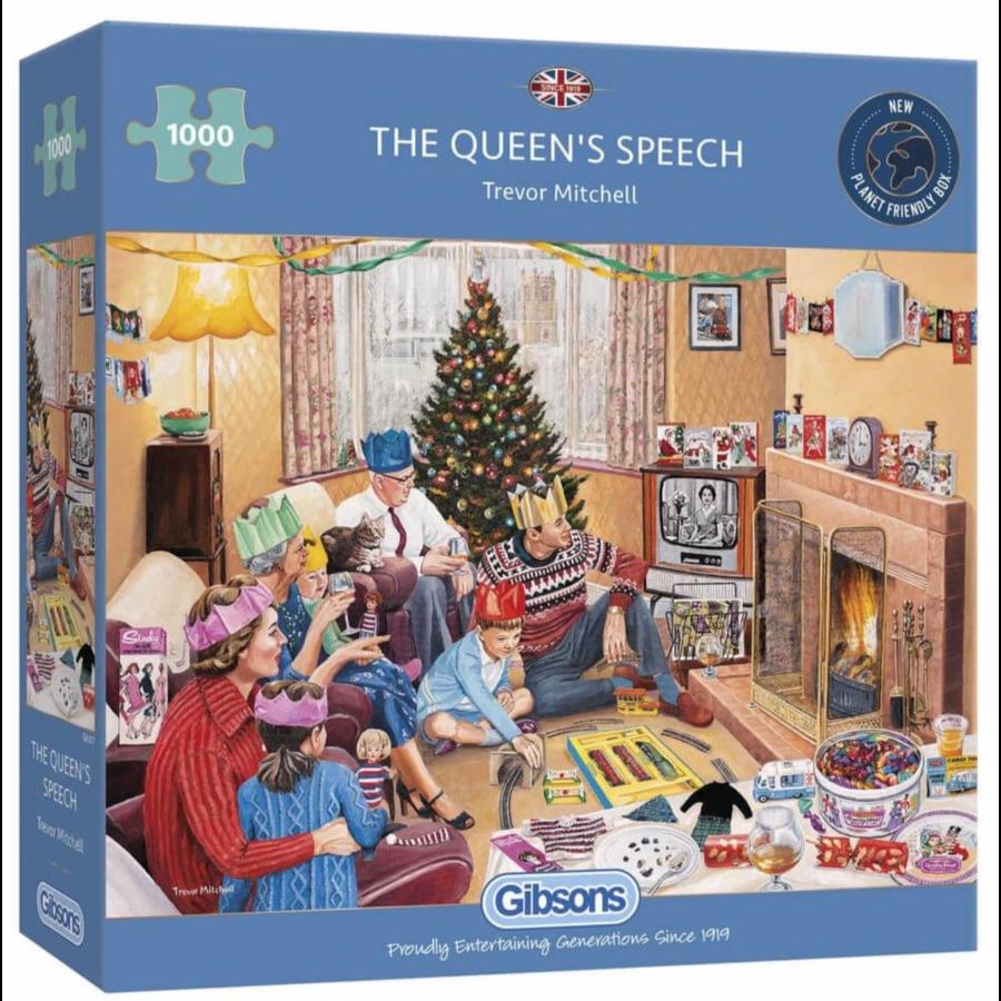The Queen's Speech - puzzel van 1000 stukjes-1