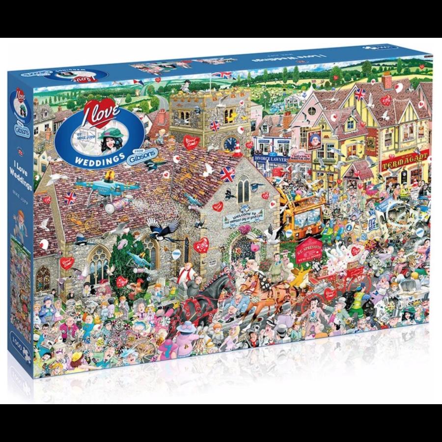 I Love Weddings - puzzel van 1000 stukjes-1
