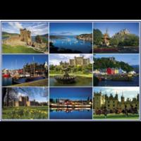 Postcards from Scotland 2 - 1000 piece jigsaw puzzle