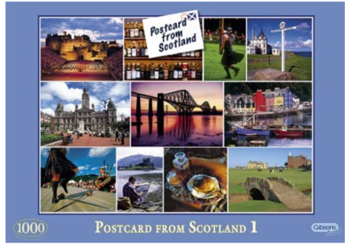Gibsons Postcards from Scotland 1 - 1000 stukjes