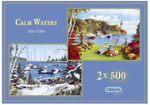 Gibsons Calm Waters - 2 puzzles of 500 pieces