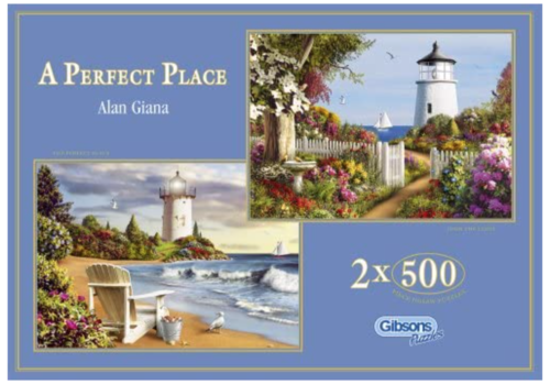 Gibsons A Perfect Place - 2 puzzles of 500 pieces