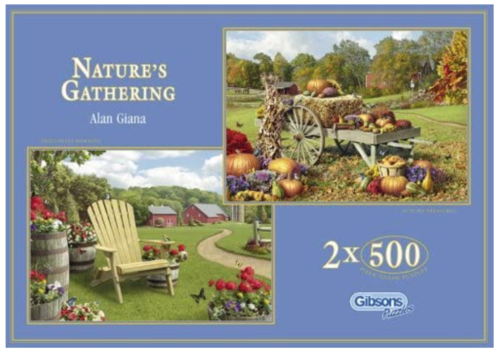 Gibsons Nature's Gathering - 2 puzzles of 500 pieces