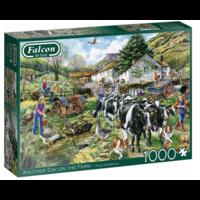 thumb-Een nieuwe dag op de boerderij - puzzel van 1000 stukjes-1