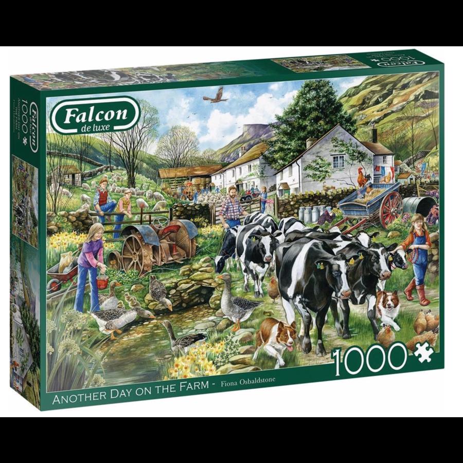 Een nieuwe dag op de boerderij - puzzel van 1000 stukjes-1