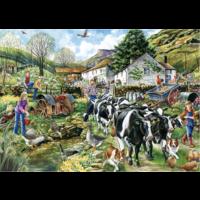 thumb-Een nieuwe dag op de boerderij - puzzel van 1000 stukjes-2