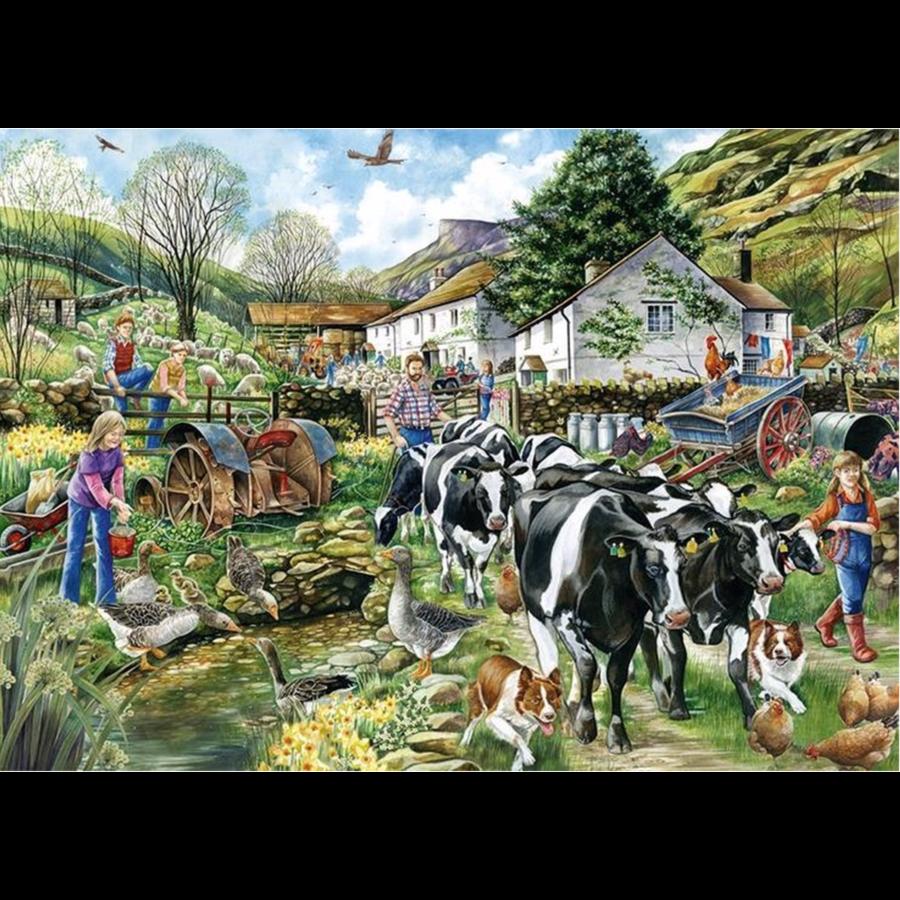 Een nieuwe dag op de boerderij - puzzel van 1000 stukjes-2
