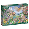 Falcon Owls in the Wood - puzzle of 1000 pieces