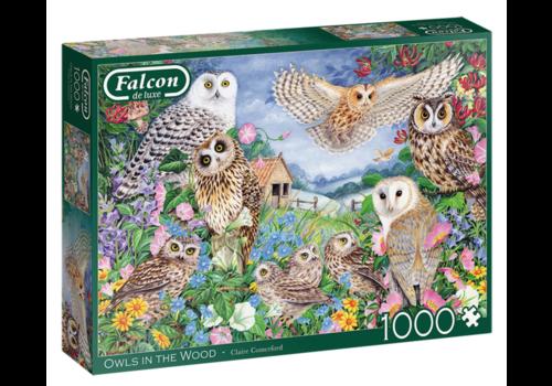 Falcon Uilen in het bos - 1000 stukjes